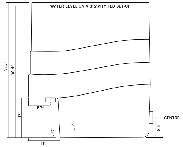 Water Level On A Gravity FED Set-Up